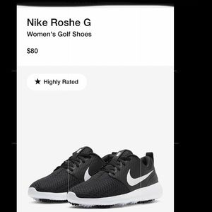 Nike Rosche G Womens Golf Shoes Size 8